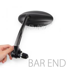 motorcycle bar end mirrors Ultra black for most bikes w/ 1
