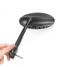 Ultra black bar end mirrors for Triumph