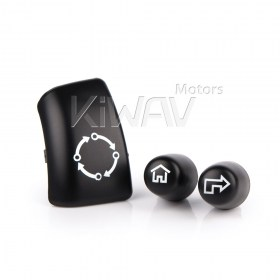 "five-way (joystick),black with white ""selection arrow"" icon with black ""home"" icon Trigger finger switch cap"