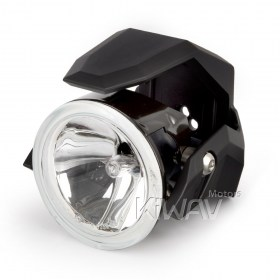 Magazi Round fog auxiliary light NS-41 black fork tube mount