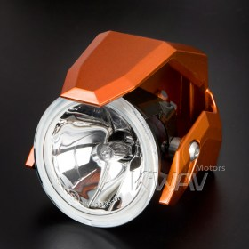 motorcycle fog auxiliary light orange fork tube mount KiWAV magazi