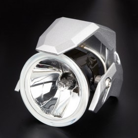 motorcycle fog auxiliary light silver fork tube mount KiWAV magazi