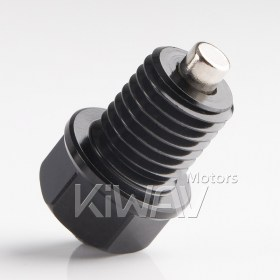 Magazi anodized black aluminum magnetic oil drain bolt plug M12 x P1.5 FOR OFF ROAD BIKE, KTM/Honda