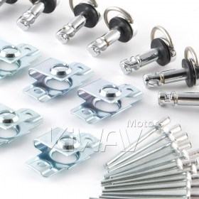 Magazi 1/4 turn Quick Release Fastener Motorcycle Scooter Fairing rivet on 19mm 10 Pieces Chrome