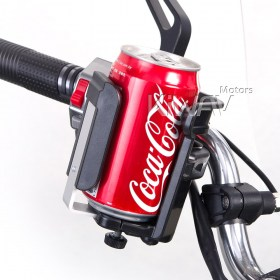Magazi Motorcycle black Drink beverage cup Holder for Motorcycle, ATV, Scooter.