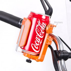 Magazi Motorcycle orange Drink beverage cup Holder for Motorcycle, ATV, Scooter.