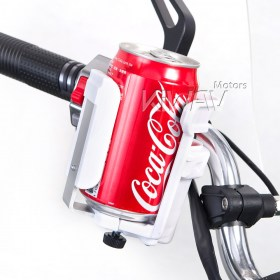 Magazi Motorcycle white Drink Holder for Motorcycle, ATV, Scooter.Drink Holder/Cup Holder/Bottle Holder/Water Bottle Holder
