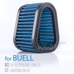 Motorcycle Air Filter,  Buell M2 CYCLONE 1200C.C 97-02, M2 CYCLONE LOW 1200C.C 01 , S1 LIGHTNING 1200C.C 96-02 Buell X1 LIGHTNING 1200C.C 99-02, S1 WHITE LIGHTNING 1200C.C 98,02, S2 THUNDERBOLT 1200C.C 98-02, S2T THUNDERBOLT 1200C.C 99-02, S3 THUNDERBOLT