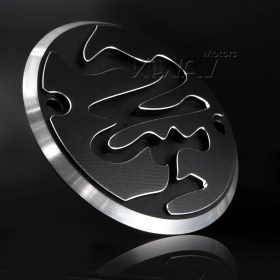 VAWiK CNC Calligraphy contrast cut 2 hole point cover for Harley Big Twin Shovelheads 70-84 Harley Big Twin Evo 84-00 Harley XL 04-13  point cover points cover timer cover timing cover ignition cover ignition timing cover edge cut 6061 aluminum alloy spo
