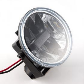 "universal 4"" KiWAV LED fog lamp light auxiliary magnesium alloy super  bright 6500K 1000lm 9W for car motorcycle"