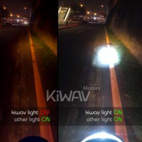 KiWAV, kiwavmotor, Auxiliary, hybrid car, electric battery car, truck, tractor, SUV, 4X4, off road, motorcycle, ECE, SAE, seal beam LED, CREE, 1000 lm, 6500K cool bluish, very light, magnesium alloy, aluminum bracket, waterproof, 12W, 12V 24V, super brig