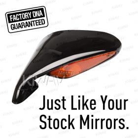 OEM quality replacement mirror FA-46 for MV Agusta F4 1000R black with turn signal 1 piece LH