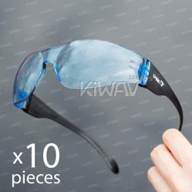 Contemporary safety glasses VA780, black frame, blue lens 10 pcs VAWiK eye protection,Safety glasses, protective eyewear, safety spectacles, safety eyewear ( 10-Pack ),outdoor sports eyewear  protective sports eyewear ,for workout and casual wear ,bicycl