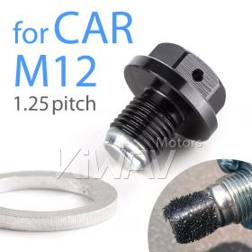 Magazi magnetic oil drain plug black M14*P1.50 fit HONDA,MAZDA,SUZUKI,MITSUBISHI  pre drilled