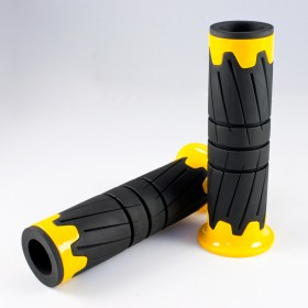 KiWAV Magazi motorcycle grips pair 22mm 25mm yellow