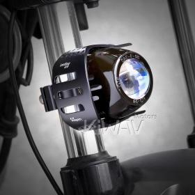 motorcycle scooter round fish-eye black fog auxiliary light Magazi