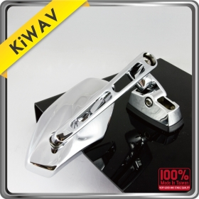 KiWAV Magazi Motorcycle Mirror Chrome Medusa sport
