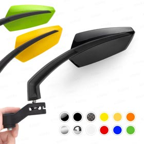 Magazi motorcycle mirrors for universal scooter glossy black
