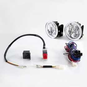 Sirius NS-15 Fog light lamp with wiring harness and chrome fog light switch
