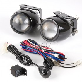 Sirius NS-2417 Round fisheye Fog Lights & Wiring Harness Set WK003