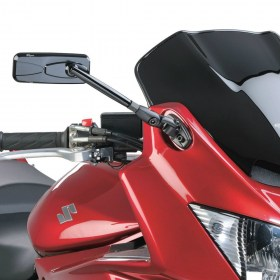 Magazi Modern black sportsbike motorcycle mirrors with glossy black mirror base