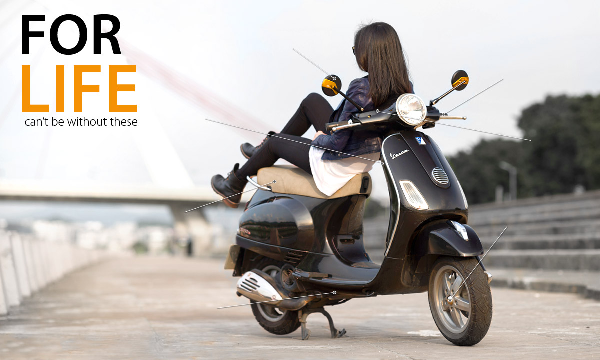 KiWAV Motors Products for Vespa