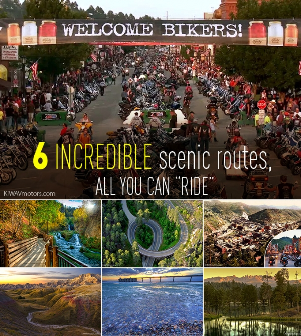 Six incredible scenic routes you can't miss around the Sturgis motorcycle rally.
